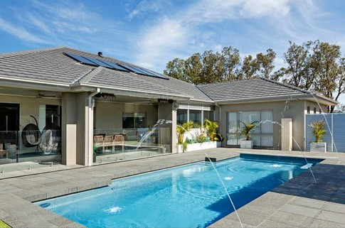 Composite Pool Solutions - Compass Pools Vivid Colours - Ice Blue